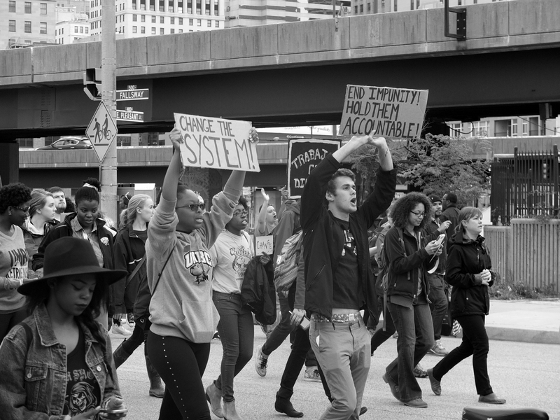 Image by Frances Grace Ghinger, Preserving the Baltimore Uprising http://baltimoreuprising2015.org/items/show/1285