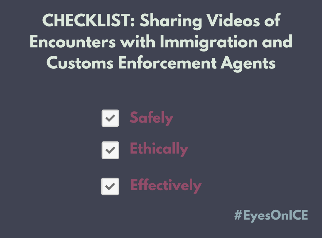 Sharing Checklist