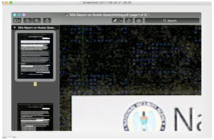 A screenshot of the NSA report with the colors inverted by the blog Errata Sec