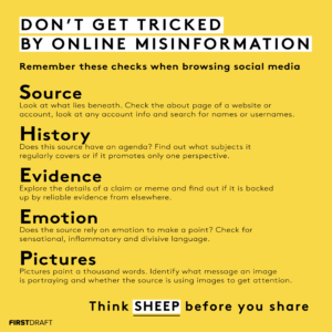 SHEEP misinformation framework