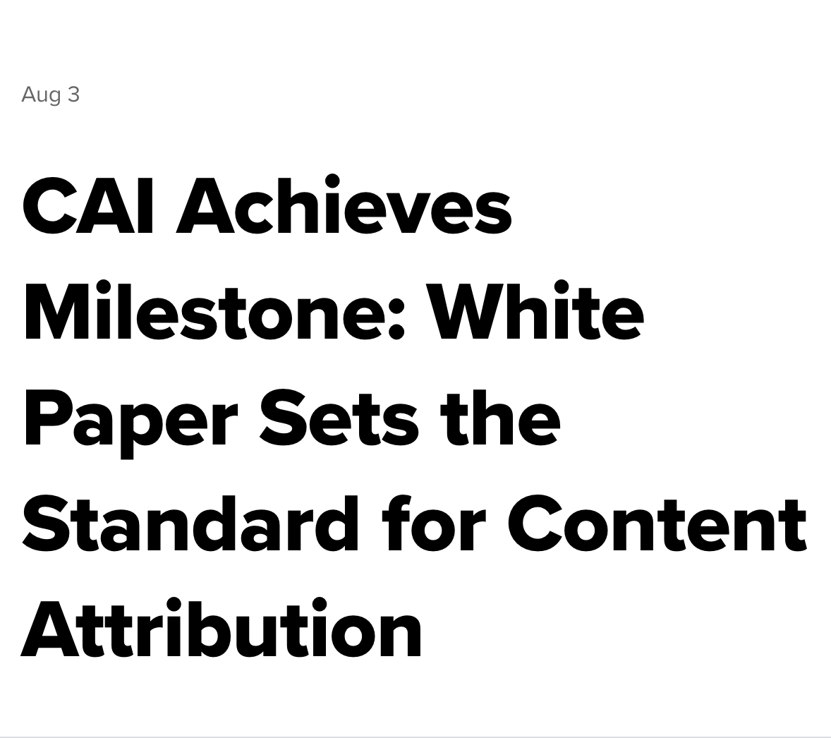 CONTENT AUTHENTICITY INITIATIVE WHITE PAPER: WITNESS CO-AUTHORS